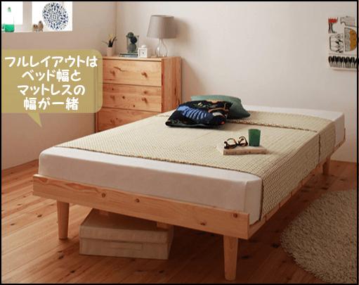 フルレイアウトすのこベッド