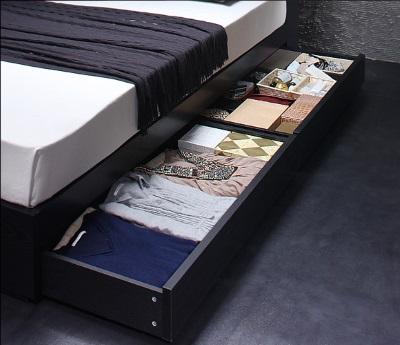 高さがあるとベッド下収納に最適