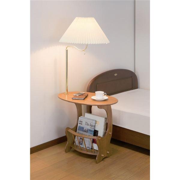 ランプ付きベッドサイドテーブル