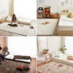 3色のベッド