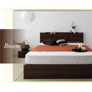 茶色のベッド雰囲気